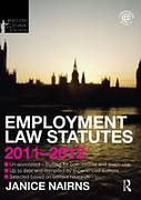 Cover of Routledge Student Statutes: Employment Law Statutes 2011 - 2012