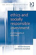 Cover of Ethics and Socially Responsible Investment: A Philosophical Approach