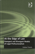 Cover of At the Edge of Law: Emergent and Divergent Models of Legal Professionalism