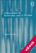 Cover of Introduction to Business Law in Russia (eBook)