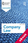Cover of Routledge Lawcards: Company Law 2012-2013 (eBook)