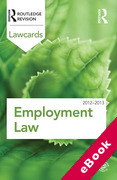 Cover of Routledge Lawcards: Employment Law 2012-2013 (eBook)
