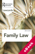 Cover of Routledge Lawcards: Family Law 2012-2013 (eBook)
