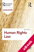 Cover of Routledge Lawcards: Human Rights Law 2012-2013 (eBook)