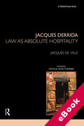 Cover of Jacques Derrida: Law as Absolute Hospitality (eBook)