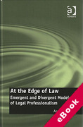 Cover of At the Edge of Law: Emergent and Divergent Models of Legal Professionalism (eBook)