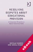 Cover of Resolving Disputes About Educational Provision: A Comparative Perspective on Special Educational Needs (eBook)