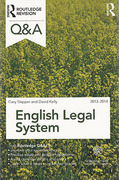 Cover of Routledge Revision Q&A: English Legal System 2013 - 2014