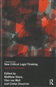 Cover of New Critical Legal Thinking: Law and the Political