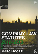 Cover of Routledge Student Statutes: Company Law Statutes 2012 - 2013