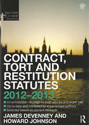 Cover of Routledge Student Statutes: Contract, Tort and Restitution Statutes 2012-2013