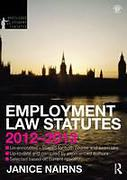 Cover of Routledge Student Statutes: Employment Law Statutes 2012 - 2013