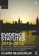 Cover of Routledge Student Statutes: Evidence Statutes 2012 - 2013
