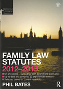 Cover of Routledge Student Statutes: Family Law Statutes 2012-2013