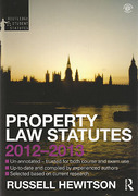Cover of Routledge Student Statutes: Property Law Statutes 2012 - 2013