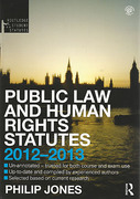 Cover of Routledge Student Statutes: Public Law and Human Rights 2011 - 2012