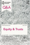 Cover of Routledge Revision Q&A Equity & Trusts 2013-2014