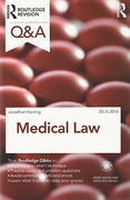 Cover of Routledge Revision Q&A: Medical Law 2013-2014