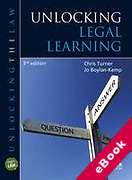 Cover of Unlocking Legal Learning (eBook)