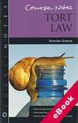Cover of Course Notes: Tort Law (eBook)