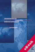Cover of Transparency in International Trade and Investment Dispute Settlement (eBook)