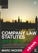 Cover of Routledge Student Statutes: Company Law Statutes 2012 - 2013 (eBook)