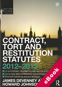 Cover of Routledge Student Statutes: Contract, Tort and Restitution Statutes 2012-2013 (eBook)