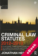 Cover of Routledge Student Statutes: Criminal Law Statutes 2012 - 2013 (eBook)