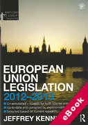 Cover of Routledge Student Statutes: European Union Legislation 2011-2012 (eBook)