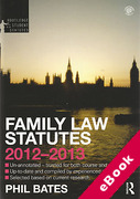 Cover of Routledge Student Statutes: Family Law Statutes 2012-2013 (eBook)