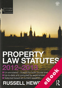 Cover of Routledge Student Statutes: Property Law Statutes 2012 - 2013 (eBook)