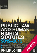 Cover of Routledge Student Statutes: Public Law and Human Rights 2011 - 2012 (eBook)