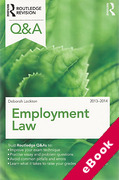 Cover of Routledge Revision Q&A: Employment Law 2013 - 2014 (eBook)