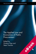 Cover of The Applied Law and Economics of Public Procurement (eBook)