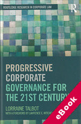 Cover of Progressive Comparative Corporate Governance for the 21st Century (eBook)