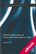 Cover of The Political Determinants of Corporate Governance in China (eBook)