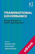Cover of Transnational Governance: Emerging Models of Global Legal Regulation (eBook)