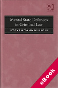Cover of Mental State Defences in Criminal Law (eBook)