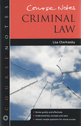 Cover of Course Notes: Criminal Law