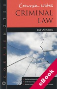 Cover of Course Notes: Criminal Law (eBook)