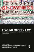 Cover of Reading Modern Law: Critical Methodologies and Sovereign Formations