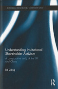 Cover of Understanding Institutional Shareholder Activism: A Comparative Study of the UK and China