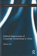 Cover of The Political Determinants of Corporate Governance in China