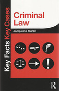 Cover of Key Facts Key Cases: Criminal Law