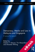 Cover of Democracy, Media and Law in Malaysia and Singapore: A Space for Speech (eBook)