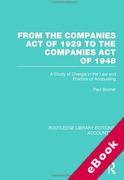 Cover of From the Companies Act of 1929 to the Companies Act of 1948: A Study of Change in the Law and Practice of Accounting (eBook)