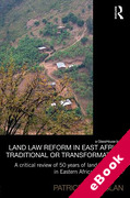 Cover of Land Law Reform in East Africa: Traditional or Transformative? (eBook)