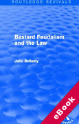 Cover of Bastard Feudalism and the Law (eBook)