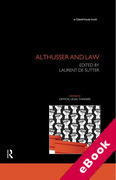 Cover of Althusser and Law (eBook)