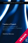 Cover of Freedom of Speech: Importing European and US Constitutional Models in Transitional Democracies (eBook)